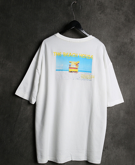 T-13059BEACH HOUSE PRINTING T-SHIRT비치하우스 프린팅 티셔츠Color : 2 colorMaterial : cotton