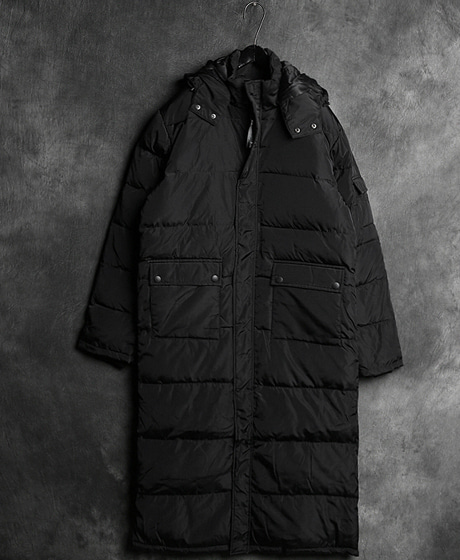 JK-7594M. POKET LONG PADDINGM. 포켓 롱 패딩Color : 1 colorMaterial : duck down