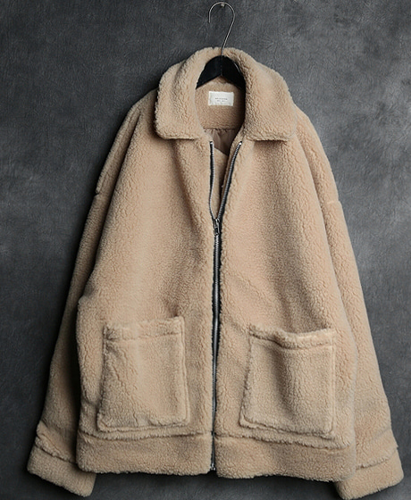 JK-7322DOUBLE POKET ZIP_UP OVERSIZED JACKET더블 포켓 집업 오버사이즈 자켓Color : 2 colorMaterial : wool/acrylic