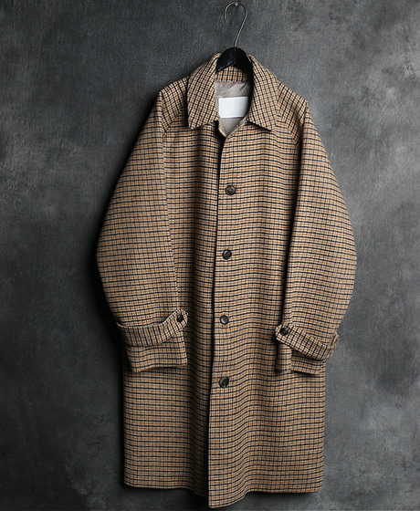 JK-7653CHECK PATTERN SINGLE COAT체크 패턴 싱글 코트Color : 2 colorMaterial : wool