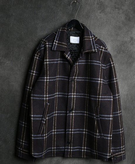 JK-7474CHECK PATTERN SHIRT JACKET체크 패턴 셔츠 자켓Color : 2 colorMaterial : wool