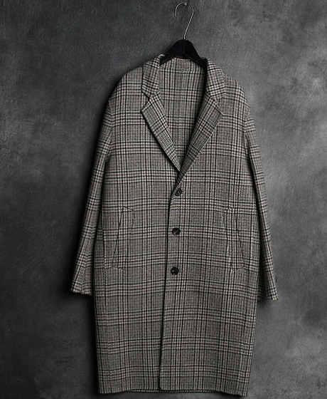 JK-7877B. HOUND TOOTH CHECK HEAND MADE COATB. 하운드투드 체크 핸드메이드 코트Color : 1 colorMaterial : wool