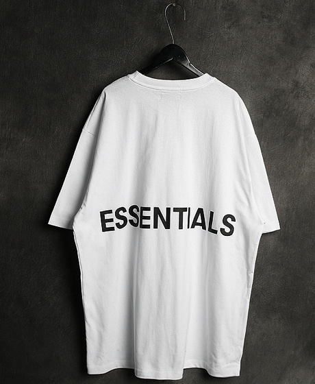 T-11901FOG ESSENTIALS BACK LOGO PRINTING TEE에센셜 로고 프린팅 티셔츠Color : 5 colorMaterial : cotton