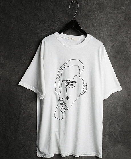 T-12988FACE PRINTING T-SHIRT페이스 프린팅 티셔츠Color : 2 colorMaterial : cotton
