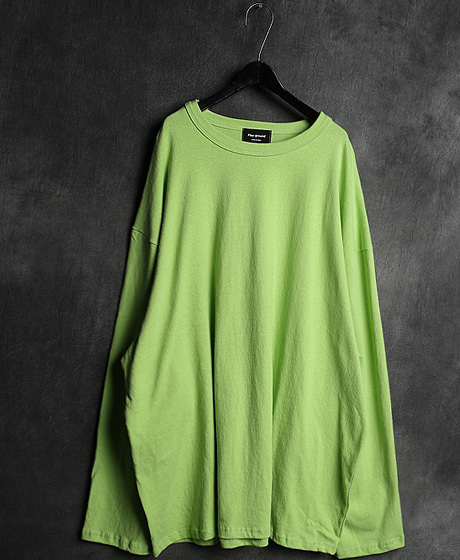 T-13076OVERSIZED LONG T-SHIRT오버사이즈 롱 티셔츠Color : 4 colorMaterial : cotton