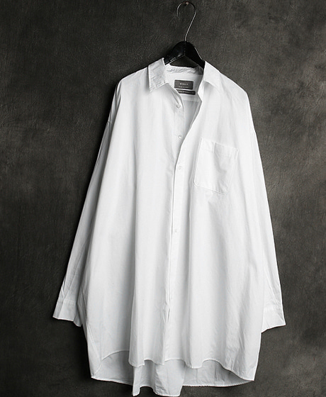 S-2093WASHING OVERSIZED LONG SHIRT워싱 오버사이즈 롱 셔츠Color : 2 colorMaterial : cotton