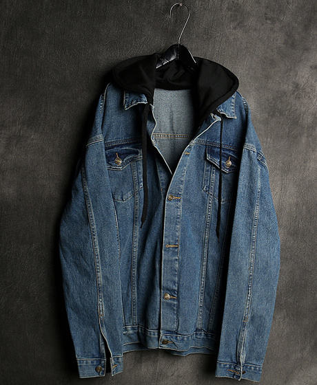 JK-8956HOODIE DENIM JACKET후드 데님 자켓Color : 2 colorMaterial : cotton/denim