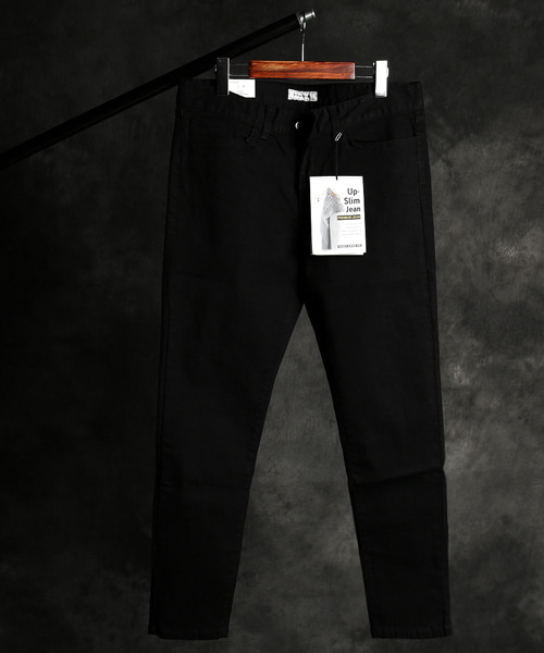P-9716black denim pants
