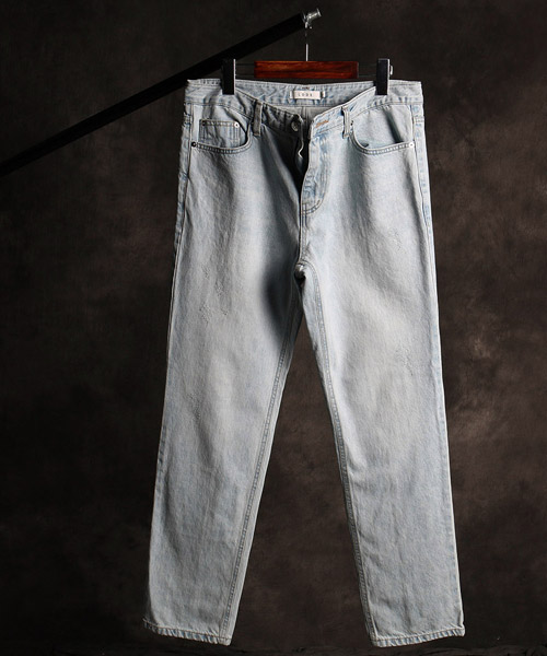 P-9847back incision denim pants