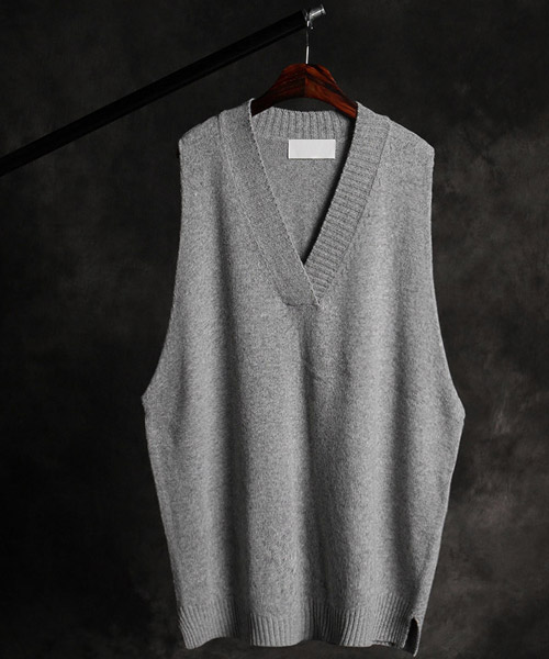 T-16336over fit lambswool vest
